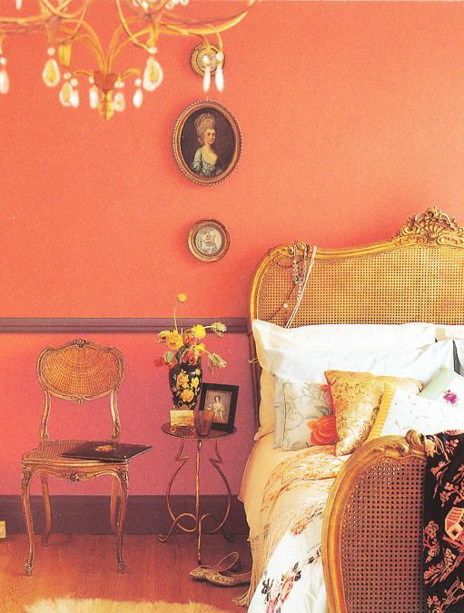 Orange Paint For Bedroom Decorating