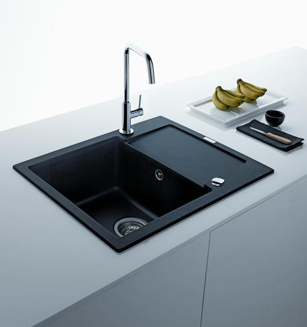 Black Kitchen Sinks, Countertops And Faucets, 25 Ideas