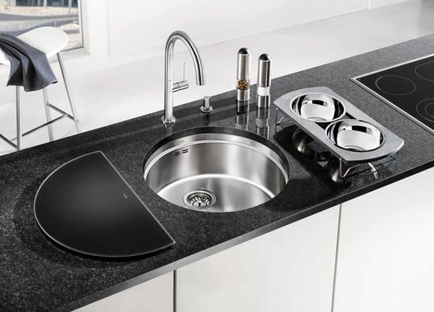 Black Kitchen Sinks, Countertops and Faucets, 25 Ideas Adding Black ...