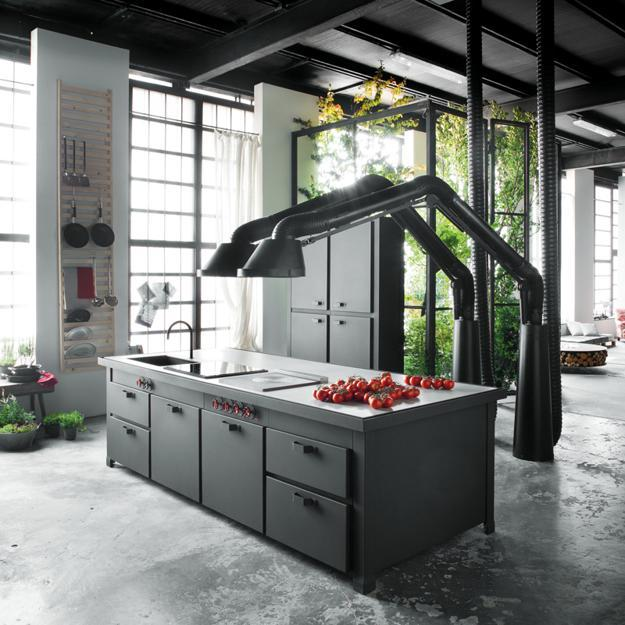 Unique Kitchen Hood Design Brings Industrial Style into ...