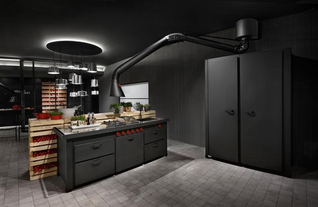 Unique Kitchen Hood Design Brings Industrial Style Into Contemporary