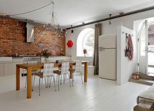 22 Modern Kitchens And Dining Room Designs Enhanced By Exposed Brick