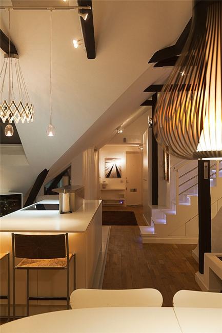 elegant swedish loft living ideas impress with exposed beams and