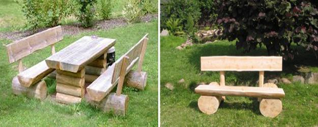 Handmade Wooden Bench For Two