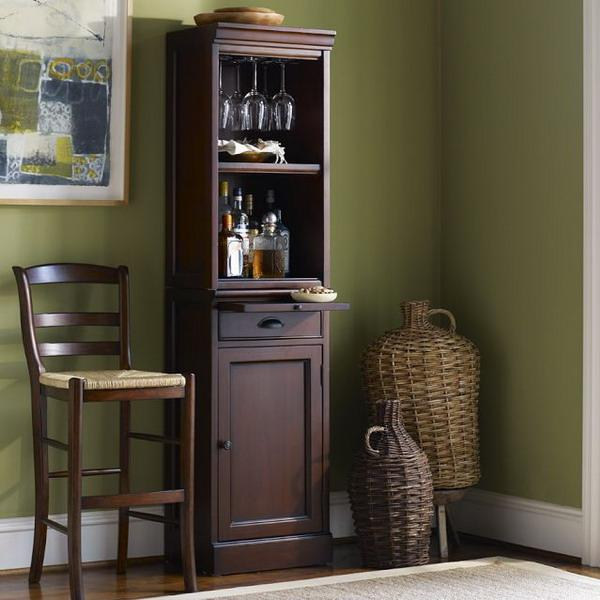 25 mini home bar and portable bar designs offering convenient space saving ideas. Black Bedroom Furniture Sets. Home Design Ideas