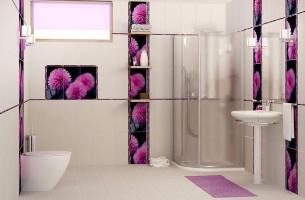 Modern Interior Design Trends in Bathroom Tiles, 25 ... on Floral Tile Bathroom Ideas  id=11215