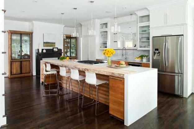 Modern Kitchen Design With A Large Island And Pantry