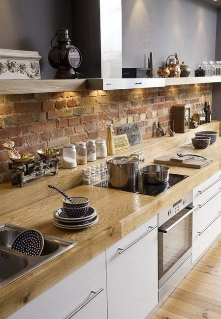 Exposed Brick Wall Designs In Kitchens