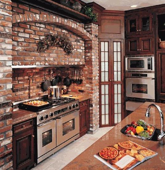 Kitchen Brick Wall Decorations