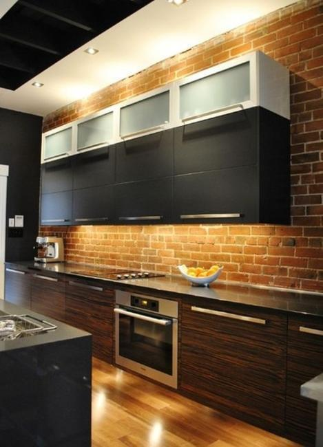 25 exposed brick wall designs defining one of latest trends in rh lushome com kitchen design with exposed brick wall