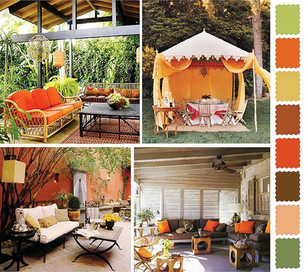 Home Design Ideas Colours: 5 Outdoor Home Decorating Color Schemes And Patio Ideas