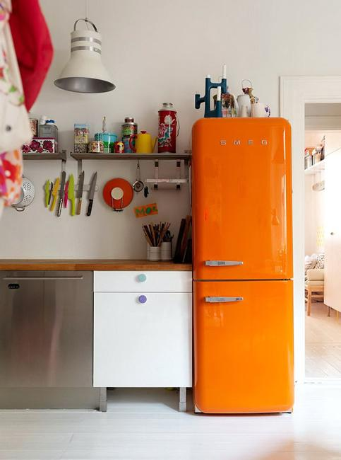retro kitchen appliance refrigerator