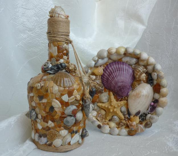 Unique Home Bar Ideas: 40 Sea Shell Art And Crafts Adding Charming Accents To