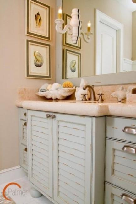 sea shell crafts for modern bathroom design and decorating