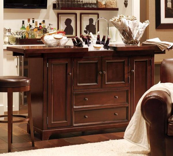20 Small Home Bar Ideas And Space Savvy Designs: Modern Space Saving Furniture For Home Bar Designs