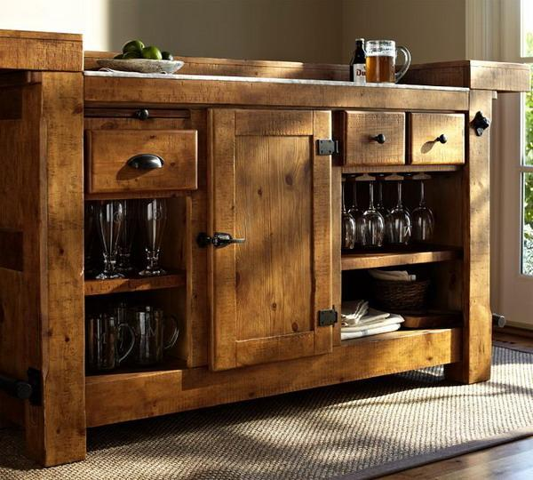Solid Wood Furniture For Home Bar Design