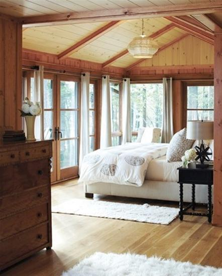 Brown Bedroom Curtain Ideas Antique Bedroom Furniture Value Bedroom Trends 2017 White Bedroom Interior Design: Summer Home Decorating Ideas Inspired By Rustic Simplicity