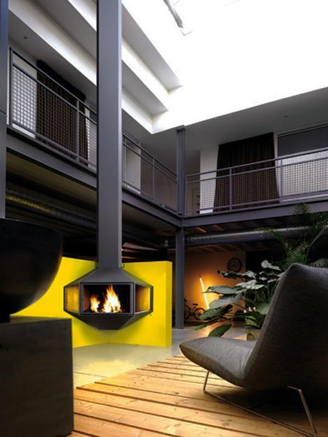 25 Hanging Fireplaces Adding Chic To Contemporary Interior Design