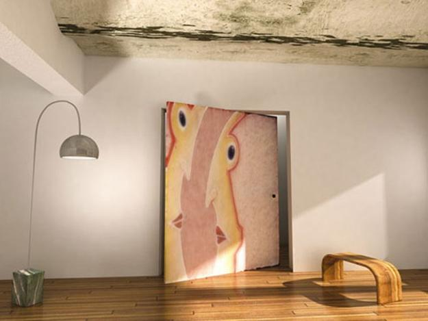 Invisible Interior Door Design That Looks Like An Artwork