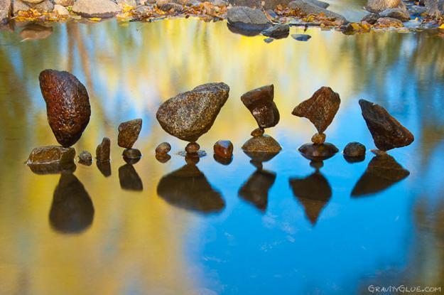stones and creative backyard ideas