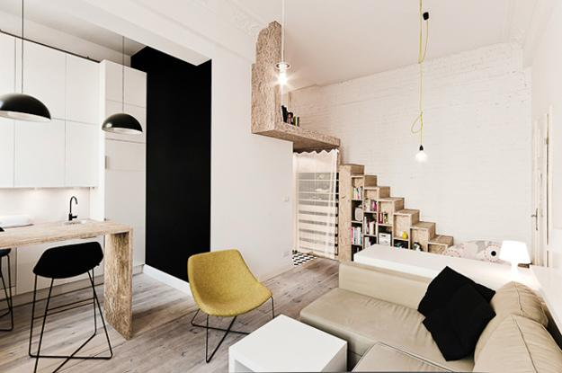 space saving ideas and black and white decorating for small apartments
