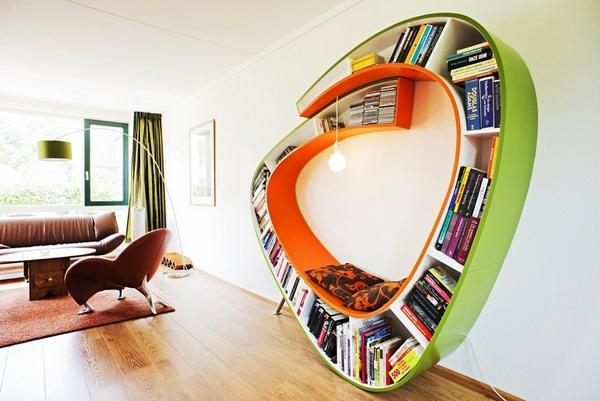 unique book shelf design ideas for modern interior decorating