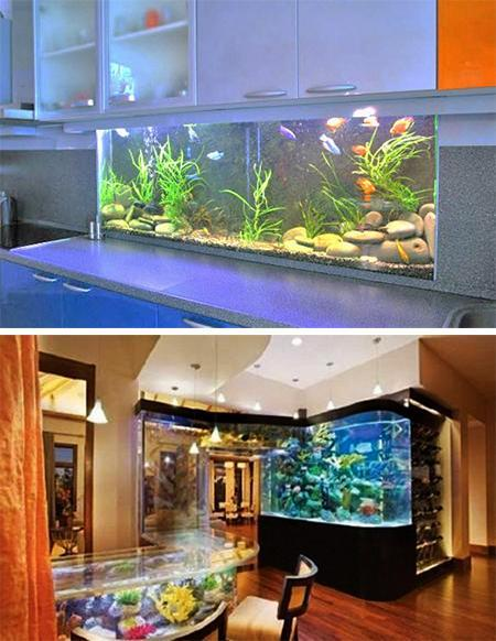 Aquarium Living Room Decor: 35 Unusual Aquariums And Custom Tropical Fish Tanks For