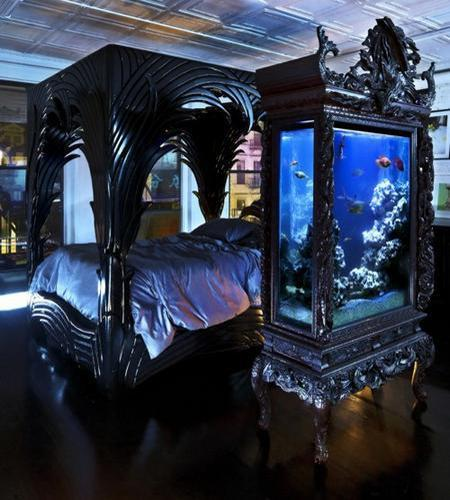 Modern Bedroom Black Gothic Bedroom Sets Room Colour Ideas Bedroom Bedroom Furniture For Men: 35 Unusual Aquariums And Custom Tropical Fish Tanks For