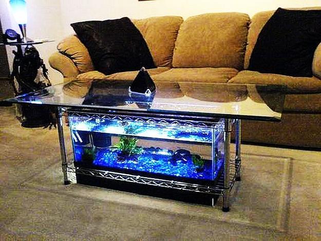 Aquarium furniture design Starfire Glass Coffee Table With Fish Aquarium Pinterest 35 Unusual Aquariums And Custom Tropical Fish Tanks For Unique