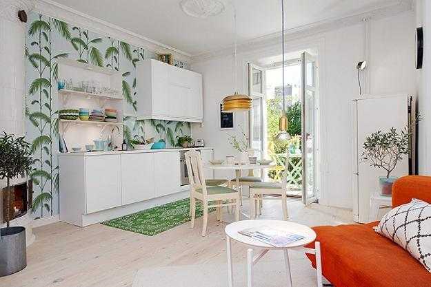 small home decorating in scandinavian style