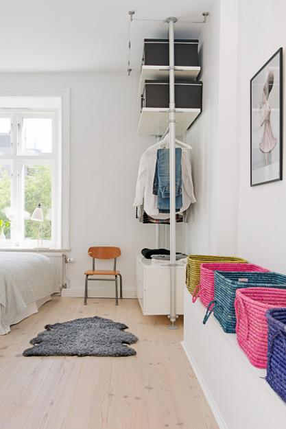Apartment Decorating Ideas With Low Budget: Bright Interior Design On Small Budget, Small Apartment