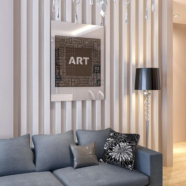 Wall Mirrors With Laser Cut Images Accentuating Modern