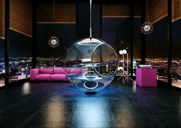 glass bathtub design