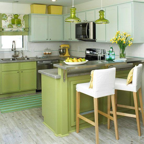 Green Kitchen Colour Ideas Home Trends: 20 Modern Kitchens Decorated In Yellow And Green Colors