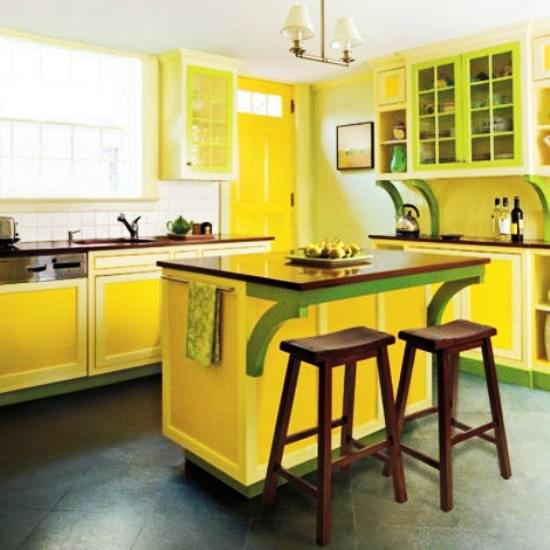 Interior Design Ideas Kitchen Color Schemes: 20 Modern Kitchens Decorated In Yellow And Green Colors
