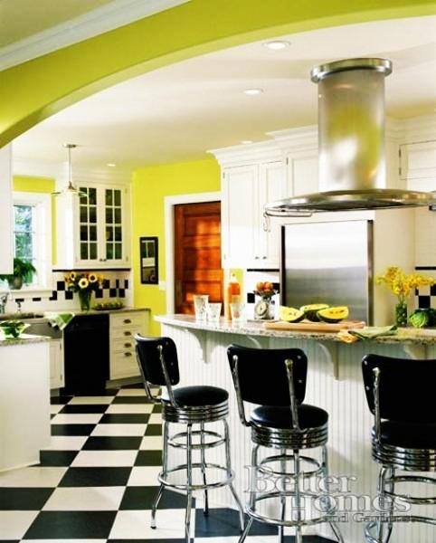 Orange Kitchen Room With White Cabinets Stock Image: 20 Modern Kitchens Decorated In Yellow And Green Colors