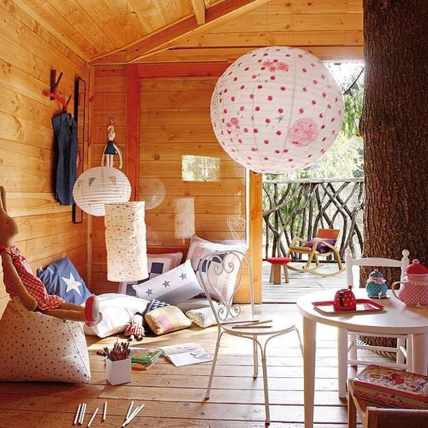 House Interior Decorating: Fabulous Kids Treehouse Design Beautifully Integrated Into