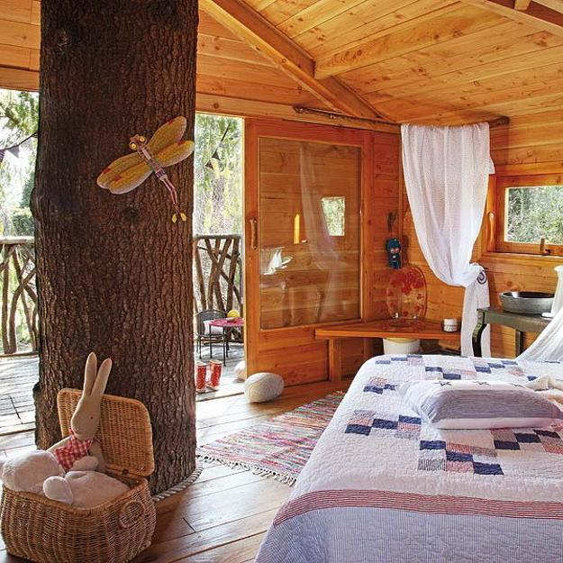 Inside Home Design Ideas: Fabulous Kids Treehouse Design Beautifully Integrated Into
