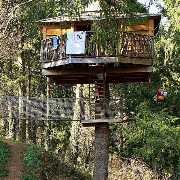 Kids Treehouse Design And Interior Decorating Ideas