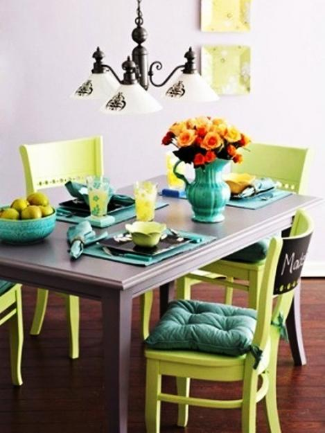 Blue Vintage Dining Chairs