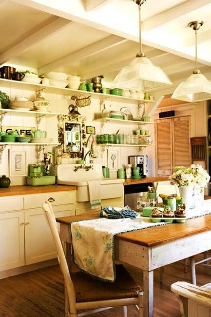 Dining Room Decorating With Creamy White Yellow And Green Colors