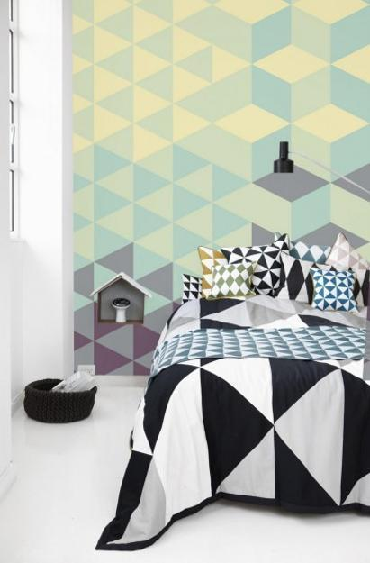 Creative Wall Murals Prints And Modern Wallpaper In Muted Colors For Fresh Interior Decorating
