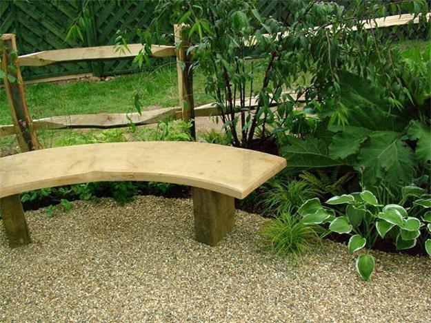 Unique Furniture Design, Handmade Wooden Garden Bench