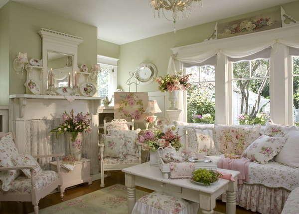 Modern Interior Design And Sensual Home Decor In Pastel Green Colors
