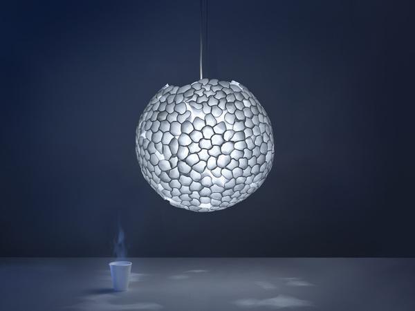 handmade lighting fixtures. Modern Lighting Fixture Demonstrating An Attractive Way To Reuse And  Recycle Plastic Glasses Handmade Fixtures N