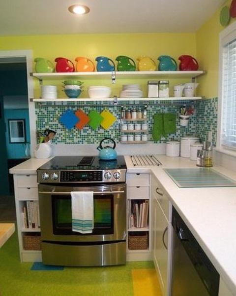 Modern Kitchens Designs In Yellow And Green Colors