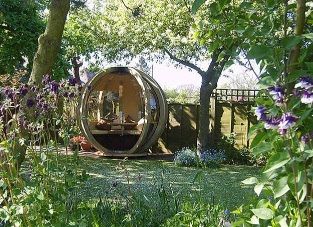 Sphere Garden Houses Adding Contemporary Touch To Backyard