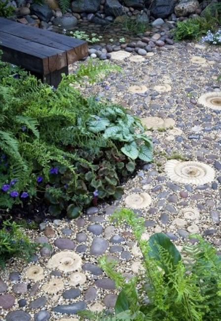 Beautiful Garden Path Designs and Ideas for Yard ... on Pebble Yard Ideas id=72117
