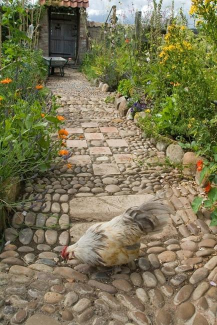 Beautiful Garden Path Designs and Ideas for Yard ... on Pebble Yard Ideas id=61136
