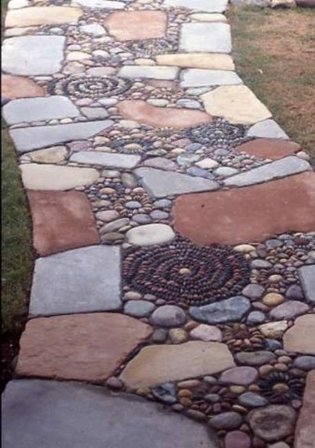 Beautiful Garden Path Designs and Ideas for Yard ... on Backyard Pebble Ideas id=31912